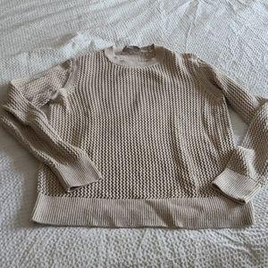 Everlane mesh cotton crew sweater medium